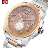 Logo personnalisé Men's verre saphir montre à quartz en acier inoxydable