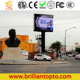La publicidad exterior de la junta de la pantalla LED de P10