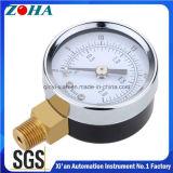 Manómetros de teste de pressão aceitáveis OEM 63mm 100mm