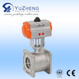 Stainless Steel 2PC Ball Valve with Pneumatic Actuator