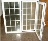 Le griglie progettano la finestra di alluminio della doppia lastra di vetro