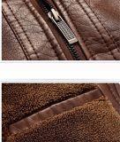 人はジャケットメンズPUの革オートバイのジャケット偶然Jacket&#160を細くする;