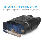 medidores binoculares da visão noturna larga de Digitas da vista 7X31 até 400 com os 2 '' TFT LCD