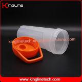 frasco plástico do abanador da proteína do projeto 700ml novo com a esfera do misturador do misturador (KL-7056)