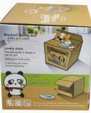 El rectángulo del ahorro del dinero para la batería de moneda linda de la panda del regalo de los niños automática agarra la moneda
