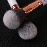 conjunto de cepillo cosmético de mármol 10PCS con la caja del cilindro