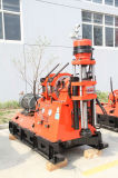 개발 광산 작업 환기와 물 출력 갱도를 가진 코어 드릴링 리그