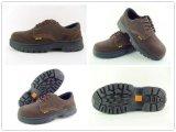 Ботинки безопасности Nubuk главного качества кожаный с стальным Toecap