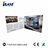 Роскошный подарок промотирования дела для карточки LCD 7 дюймов видео-