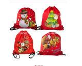 Sac de cordon en nylon fait sur commande de Noël de grand sac à dos de mémoire de Noël de mode