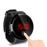 Мода мужская водонепроницаемой цифровой Светодиодный сенсорный экран дата силиконового герметика Sport смотреть на запястье