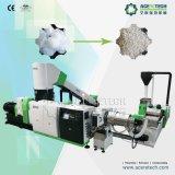 Resíduos de fibra de Pet Linha de Pelotização / fibra de poliéster Granulator