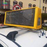 960x320mm (384*128 píxeles) HD P2.5mm dobles caras Taxi arriba publicidad LED
