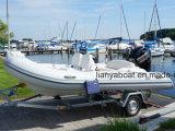 Barco inflável rígido do reforço do console Center do barco de Liya14feet para a venda