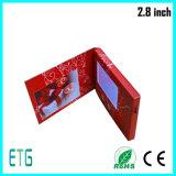 Venta caliente de vídeo en pantalla LCD de 2,8 pulgadas de la Tarjeta de saludo