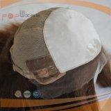 Peruca superior de seda da parte dianteira médica brasileira do laço do cabelo (PPG-l-0795)