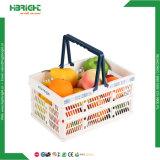 Stapelbarer Korb-Plastiksupermarkt-fördernder Korb für Frucht
