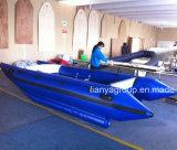 Vente à grande vitesse gonflable de catamaran de bateau de Liya 3.3m 4.3m Chine