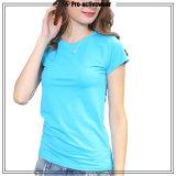 (Campione libero) donne all'ingrosso che eseguono le magliette del manicotto di Short di sport dell'abito