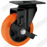 Roda de rodízio de PU de médio porte (laranja) (G3206E)