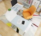 본사 가구 L 모양 강화 유리 컴퓨터 책상