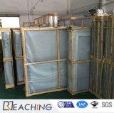 水平の開始白いUPVCはバルコニーのためのガラス繊維のドアを取り除く