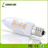 LED C7夜全般照明のための電球の2W (15W白熱等量)暖かい白(3000K) E12 LEDの球根
