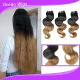 OmbreカラーブラジルのバージンのRemyの毛の拡張