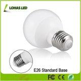 높은 산출 연약한 백색 6W E26 60W 백열 동등물 LED 지구 전구