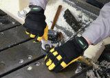 Мягкий и дышащий механическая безопасность рабочие перчатки с Goatskin упора для рук