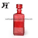 Square Glass Wine Bottle with Glass stopper