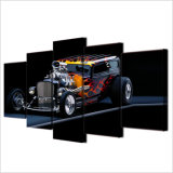 Картина маслом самомоднейшего домашнего плаката декора модульная 5 напечатанного HD частей искусствоа стены холстины автомобиля спортов горячей штанги изображает картину холстины рамок