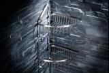 De muur zette de Dubbele Theebus van de Douche van de Badkamers van de Mand van de Hoek van de Badkamers van het Roestvrij staal van de Laag op