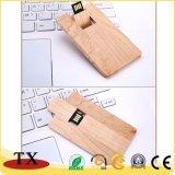 USB ручки памяти привода вспышки USB формы карточки деревянный