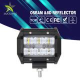 IP68 brilhantes super Dual barra clara curta do diodo emissor de luz das fileiras 4inch 30W 4X4
