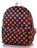 Estilo de Impressão Floral mochila DOT Series Backpack College Saco de lazer do vento