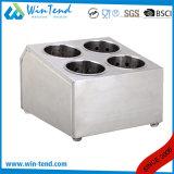 熱い販売の穴が付いている標準的なステンレス鋼の西部の食事用器具類のホールダー