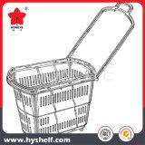 Cesta plástica do supermercado da venda por atacado da cesta de compra do rolamento