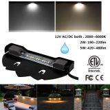 12V 2W / 5W ETL Aprobado cubierta luz al aire libre de IP65 LED Hardscape