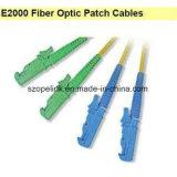 Simplexbetrieb der Faser-optischer Steckschnür-E2000-E2000, Inspektion für aus optischen FasernDÜ-System