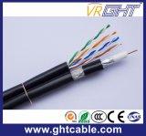 Câble composite RG6 avec câble réseau Cat5