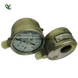 "2.5 "" 0-0.4MPa Hydraulic Pressure Gauge、Siliconオイルによって満たされるPressure Gauge"