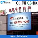 Visualización de LED montada en la pared al aire libre de la curva del alto contraste P6 para hacer publicidad