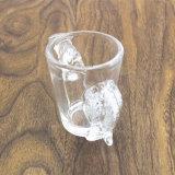 Чашка животной формы волка конструкции прозрачная малая стеклянная