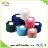 Marcação ISO coesa elásticas de algodão bandagem de EFP coloridos