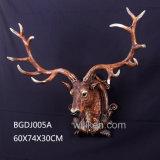 판매 고품질 수지 벽 동물성 사슴 Bull 맨 위 조각품을%s 도매