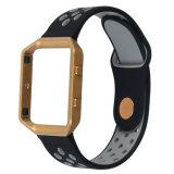 Silicone met Riem van het Horloge van de Versie van het Frame van het Metaal de Snelle voor de Band van de Uitbarsting Fitbit