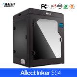 Impresora grande de Digitaces 3D de la alta calidad de la talla de la impresión de Allcct Inker 334 directos de escritorio de la fábrica