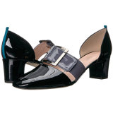 Pompes à main en cuir Plus Size Mesdames Chaussures Chaussures Femmes Bureau