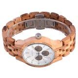 Custom de cuarzo de alta calidad de los hombres las mujeres nuevo diseño de reloj de pulsera de madera